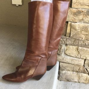 Vintage Via Spiga ALL Leather Boot - Made In Italy